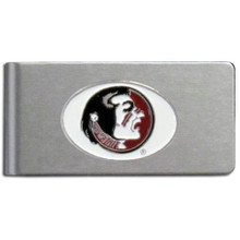 Florida State Seminoles Brushed Money Clip NCCA College Sports CBMC7