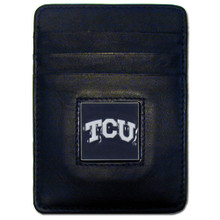 TCU Horned Frogs Leather Money Clip Card Holder Wallet NCCA College Sports CCH112