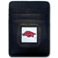 Arkansas Razorbacks Leather Money Clip Card Holder Wallet NCCA College Sports CCH12