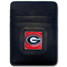Georgia Bulldogs Leather Money Clip Card Holder Wallet NCCA College Sports CCH5