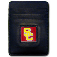 USC Trojans Leather Money Clip Card Holder Wallet NCCA College Sports CCH53