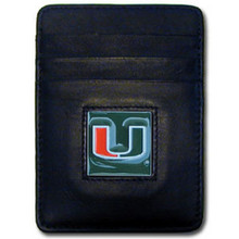 Miami Hurricanes Leather Money Clip Card Holder Wallet NCCA College Sports CCH6