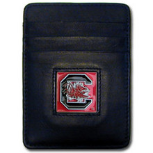 South Carolina Gamecocks Leather Money Clip Card Holder Wallet NCCA College Sports CCH63