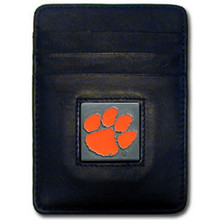 Clemson Tigers Leather Money Clip Card Holder Wallet NCCA College Sports CCH69