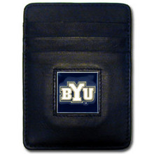 BYU Cougars Leather Money Clip Card Holder Wallet NCCA College Sports CCH86