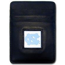 North Carolina Tar Heels Leather Money Clip Card Holder Wallet NCCA College Sports CCH9