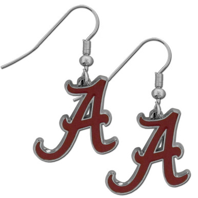Alabama Crimson Tide Chrome Dangle Earrings NCCA College Sports CDE13N