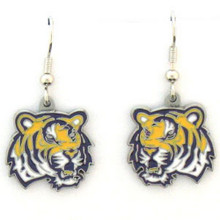 LSU Tigers Dangle Earrings NCCA College Sports CDE43