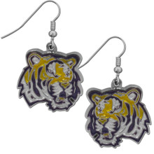 LSU Tigers Chrome Dangle Earrings NCCA College Sports CDE43N