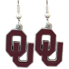 Oklahoma Sooners Dangle Earrings NCCA College Sports CDE48