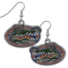 Florida Gators Chrome Dangle Earrings NCCA College Sports CDE4N