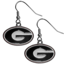Georgia Bulldogs Dangle Earrings NCCA College Sports CDE5
