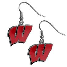 Wisconsin Badgers Dangle Earrings NCCA College Sports CDE51