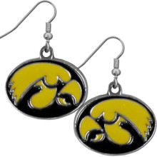 Iowa Hawkeyes Chrome Dangle Earrings NCCA College Sports CDE52N