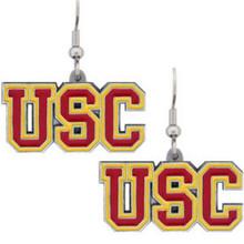 USC Trojans Dangle Earrings NCCA College Sports CDE53