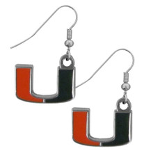 Miami Hurricanes Chrome Dangle Earrings NCCA College Sports CDE6N