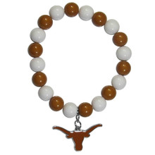 Texas Longhorns Fan Bead Bracelet NCAA College CFBB22