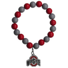 Ohio State Buckeyes Fan Bead Bracelet NCAA College CFBB38