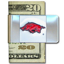 Arkansas Razorbacks Logo Money Clip NCCA College Sports CMCL12