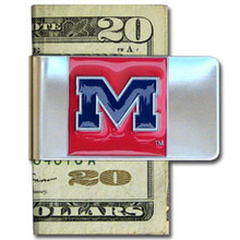 Mississippi Rebels Logo Money Clip NCCA College Sports CMCL59