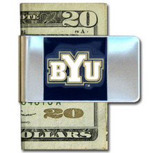 BYU Cougars Logo Money Clip NCCA College Sports CMCL86