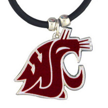 Washington State Cougars Cord Pendant Necklace NCCA College Sports CPR71