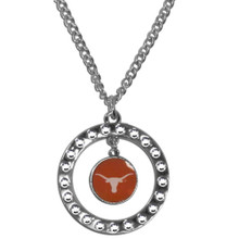 Texas Longhorns Rhinestone Hoop Necklace NCCA College Sports CRN22