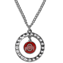 Ohio State Buckeyes Rhinestone Hoop Necklace NCCA College Sports CRN38