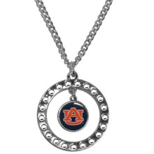 Auburn Tigers Rhinestone Hoop Necklace NCCA College Sports CRN42