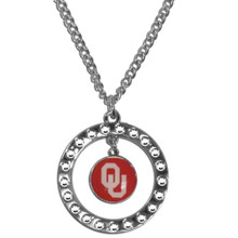 Oklahoma Sooners Rhinestone Hoop Necklace NCCA College Sports CRN48