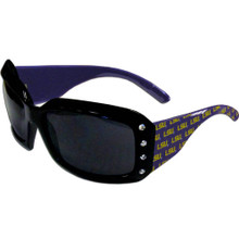 LSU Tigers Rhinestone Designer Sunglasses NCCA College Sports CSG43W