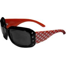 Wisconsin Badgers Rhinestone Designer Sunglasses NCCA College Sports CSG51W