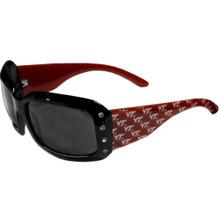 Virginia Tech Hokies Rhinestone Designer Sunglasses NCCA College Sports CSG61W