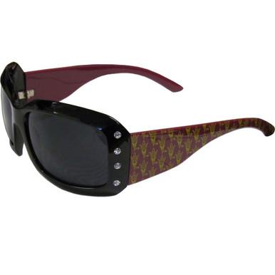 Arizona State Sun Devils Rhinestone Designer Sunglasses NCCA College Sports CSG68W