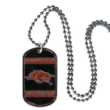 Arkansas Razorbacks Dog Tag Necklace NCCA College Sports CTN12
