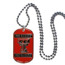 Texas Tech Raiders Dog Tag Necklace NCCA College Sports CTN30