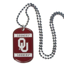 Oklahoma Sooners Dog Tag Necklace NCCA College Sports CTN48