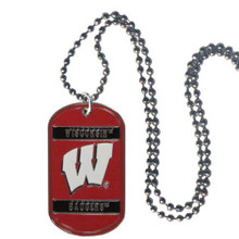 Wisconsin Badgers Dog Tag Necklace NCCA College Sports CTN51