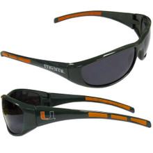 Miami Hurricanes Wrap Sunglasses NCCA College Sports 2CSG6