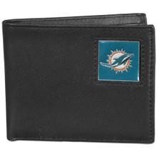 Miami Dolphins Black Bifold Wallet