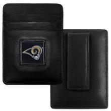 St. Louis Rams Card Holder Money Clip Wallet FCH130