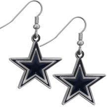 Dallas Cowboys Chrome Dangle Earrings FDE055N