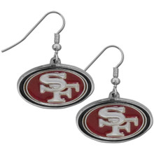 San Francisco 49ers Chrome Dangle Earrings FDE075N