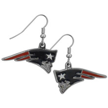 New England Patriots Chrome Dangle Earrings FDE120N