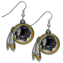 Washington Redskins Chrome Dangle Earrings FDE135N