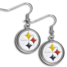 Pittsburgh Steelers Chrome Dangle Earrings FDE160N