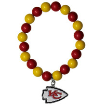 Kansas City Chiefs Fan Bead Bracelet NFL Football FFBB045