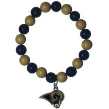 St. Louis Rams Fan Bead Bracelet NFL Football FFBB130
