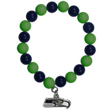 Seattle Seahawks Fan Bead Bracelet NFL Football FFBB155
