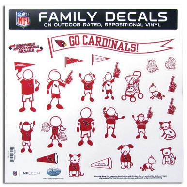 Arizona Cardinals Large Family Decal Stickers